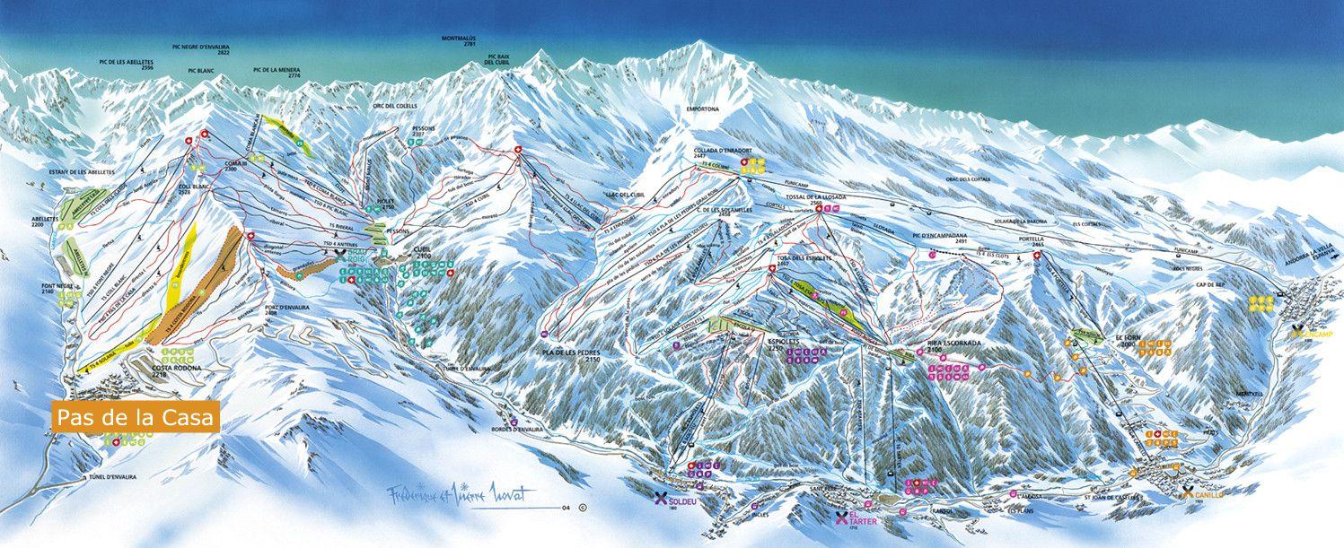Pas De La Casa Piste Map Pas De La Casa   ski Pas De La Casa Piste Map